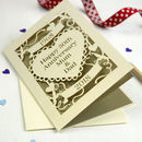 Personalised Papercut Golden Wedding Anniversary Card