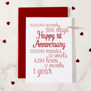 Personalised Time I've Loved You Anniversary Card
