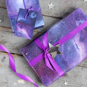 Galaxy Gift Wrapping Set - ribbon & wrap
