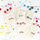 Foil Print Personalised Party Favour Bags