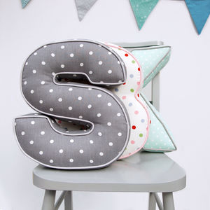 Personalised Spotty Letter Cushion