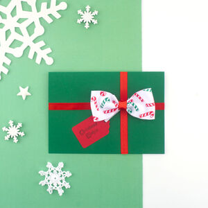 Handmade Christmas Present Card Limited Edition