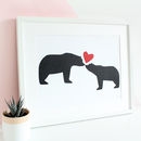 Bear, I Love You A3 Anniversary Print