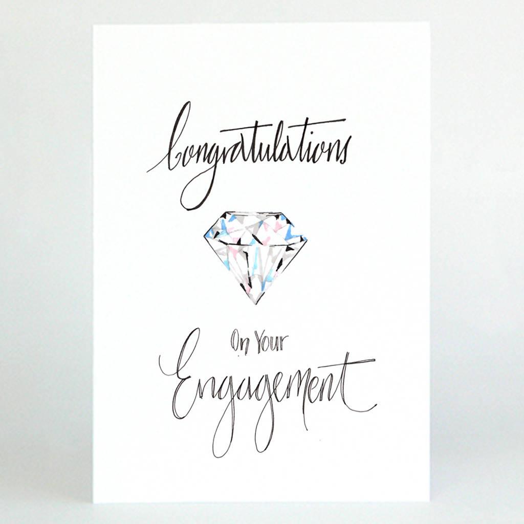 Engagement Congratulations Card By De Fraine Design London