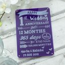 Wedding Anniversary Personalised Engraved Sign