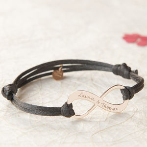 Woman's Personalised Infinity Bracelet - jewellery sale