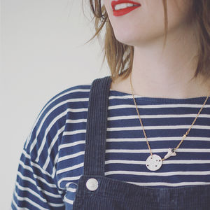 Lunar Landing Moon And Space Shuttle Necklace