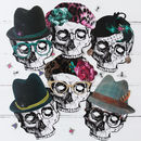 skull face photo booth props