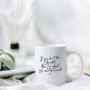 'Chocolate Lover' Friendship Quote Mug
