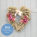 Create Your Own Dried Flower Heart Wreath