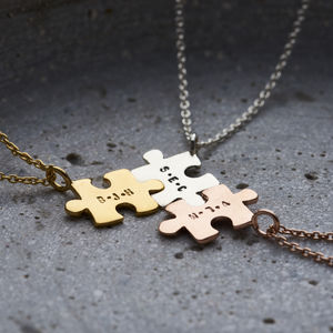 Personalised Jigsaw Necklace - gifts for my friends