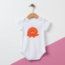 Personalised Hedgehog Baby Grow