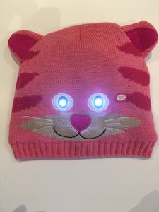 Bright Eyes Animal Hats With LED Lights. Cassie Cat