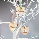 Personalised Name Wooden Heart Decoration Favour