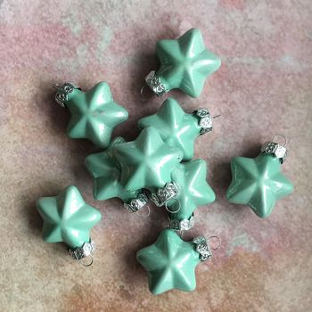 Aqua Blue Mini Star Baubles