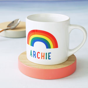 Personalised Rainbow Children's Mug - mugs
