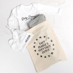 Personalised Baby's First Outfit Bag