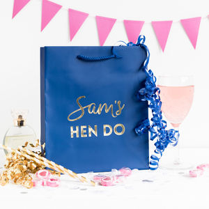 Personalised Hen Party Gift Bags - favour bags, bottles & boxes