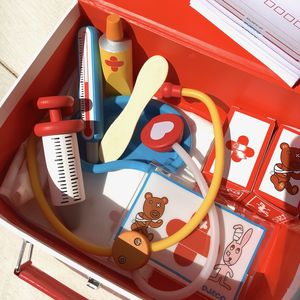 Childs Wooden Vet Kit - pretend play & dressing up