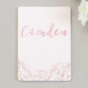 Hydrangea Pink Table Name Cards - table decorations