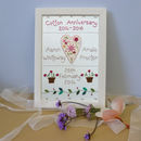 Personalised Embroidered Anniversary Picture
