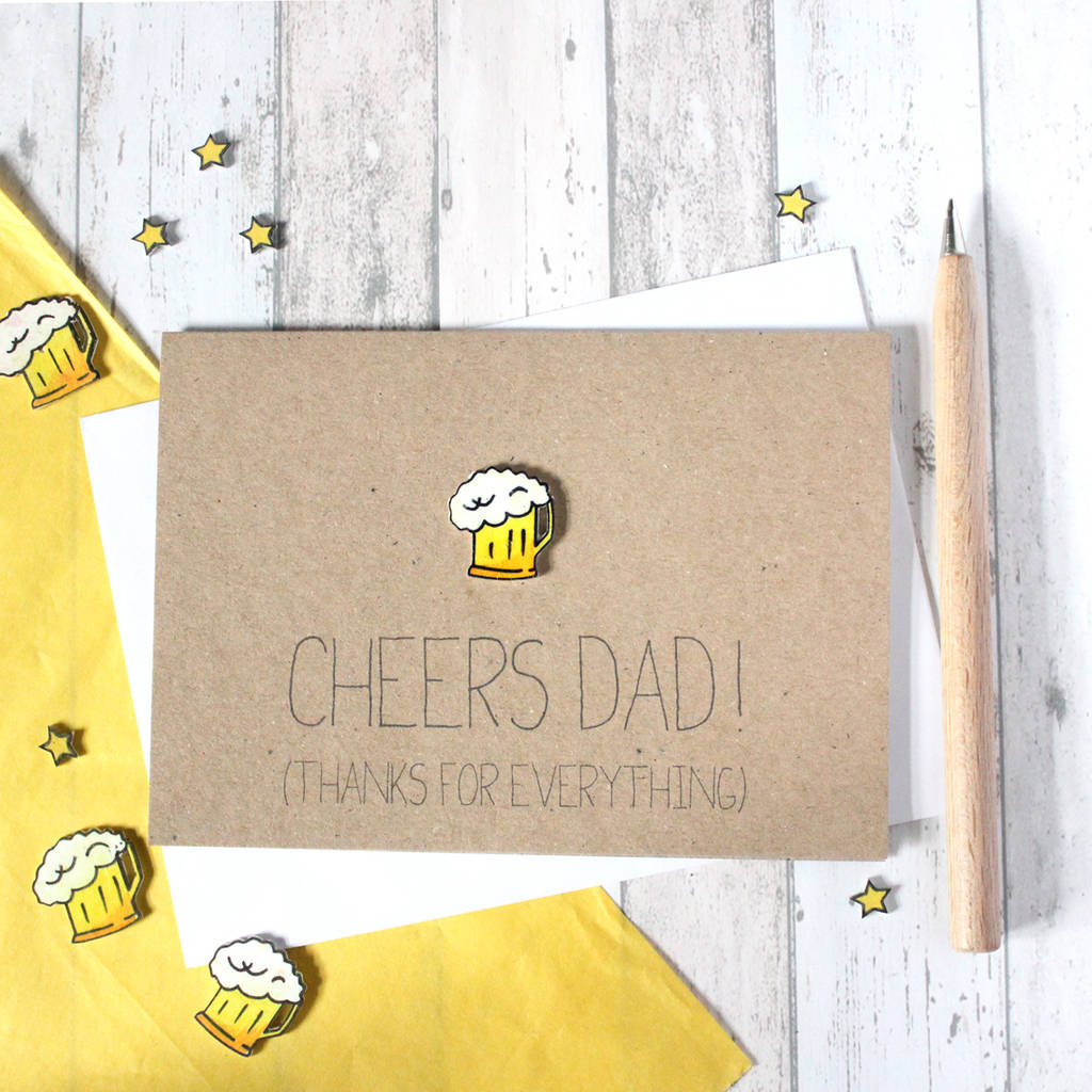 'Cheers Dad!' Father's Day Thank You Card
