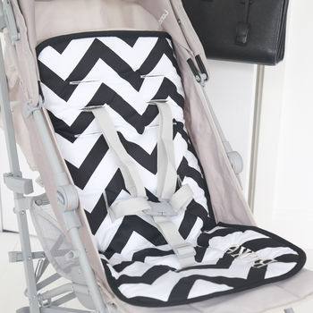 Personalised Chevron Pram Liner