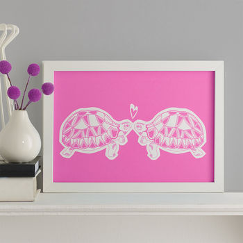 Tortoises In Love Screen Print
