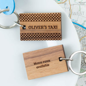 Personalised Wooden Gift Driving Test Keyring