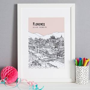 Personalised Florence Print - maps & locations