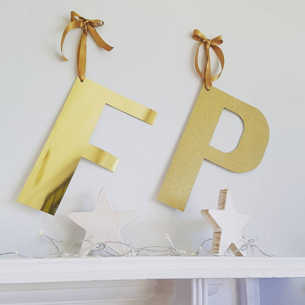Gold Hanging Letters Large Gold Hanging Letterscreative And Contemporary