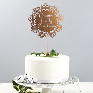Personalised Christmas Family Cake Topper - festive cake toppers