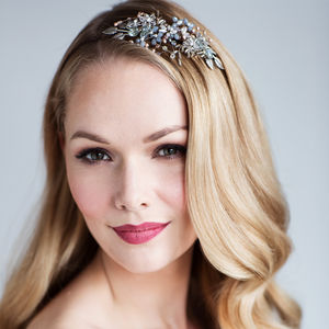 Orchid Crystal Bridal Headdress - bridal hairpieces