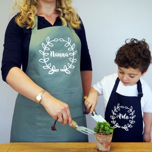Personalised Gardening Apron Set