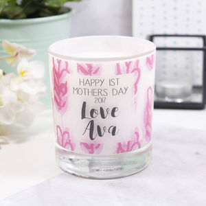 Personalised 1st Mother's Day Patterned Scented Candle - what's new