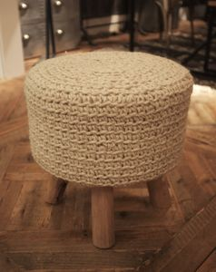 100% Wool Top Stools Natural - stools