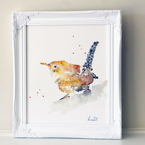 Bird Painting, Jenny Wren - paintings & canvases