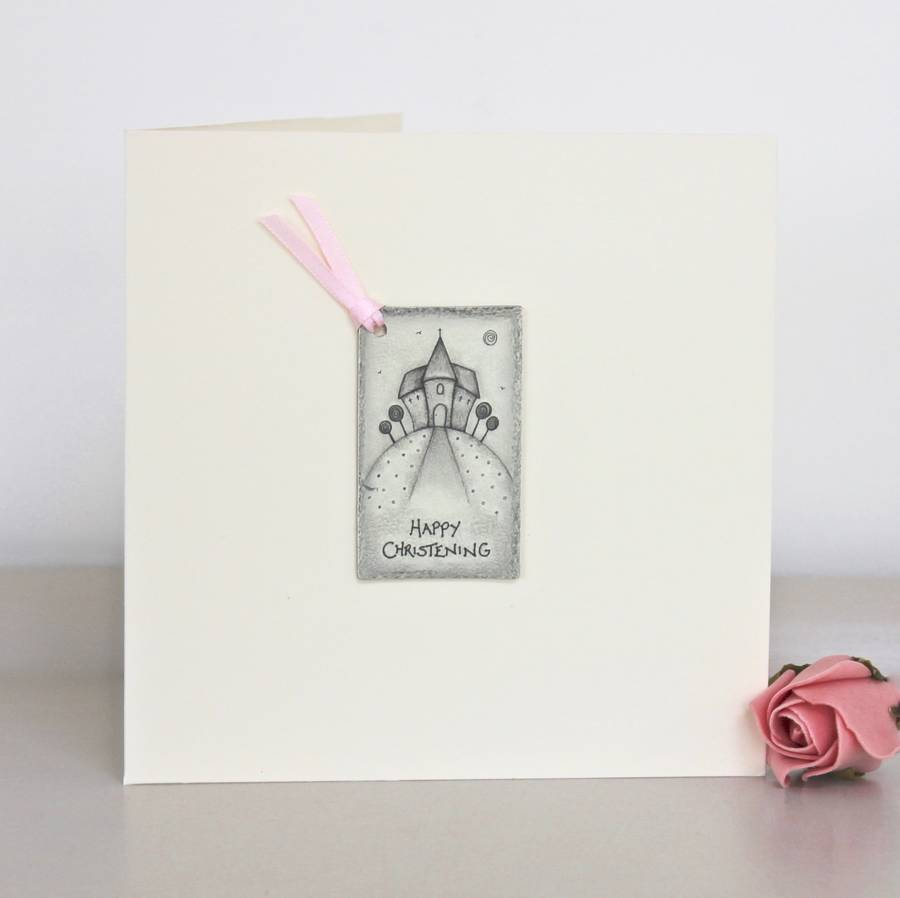 Happy christening handmade card by chapel cards happy christening handmade card kristyandbryce Choice Image