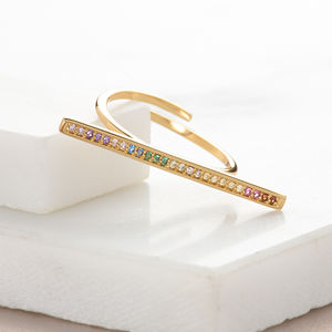 Sparkling Bar Ring - jewellery