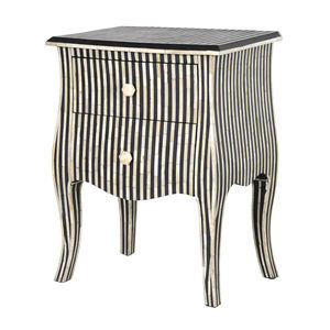 French Bone Inlay Two Drawer Bedside - furniture