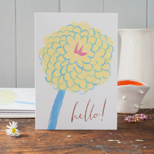 Hello Flower Just To Say Cards That Can Be Personalised