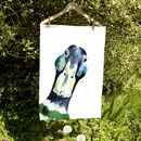 Inky Mallard Tea Towel