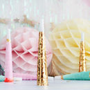 Pastel And Gold Foil Fringed Party Horns