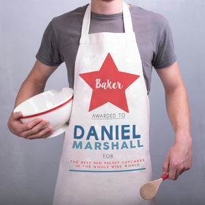 Personalised Baker Apron - aprons