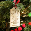 Baby's First Christmas Letter Wooden Tag Decoration