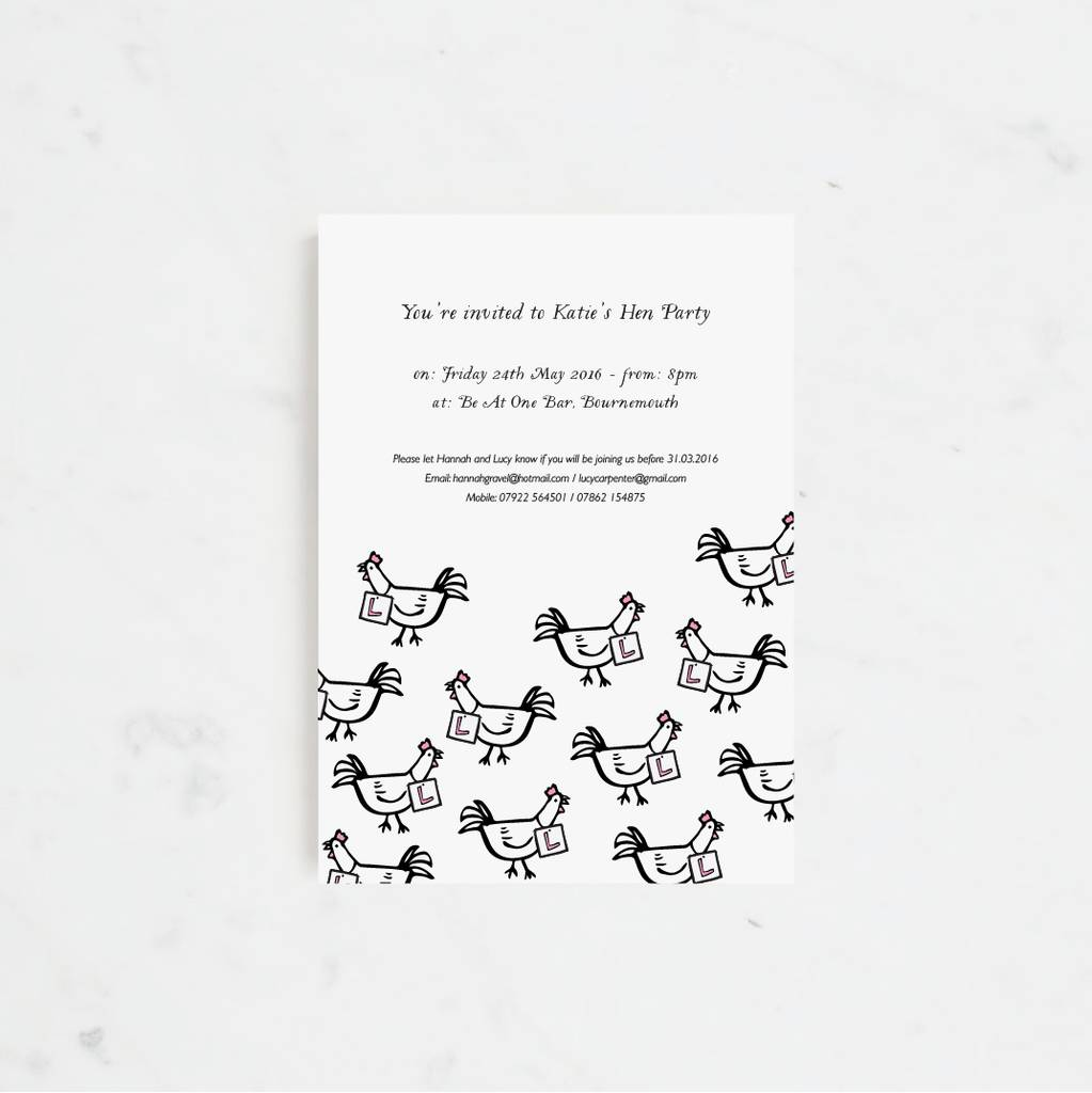 20 clucking hens party invitations by lola\'s paperie ...