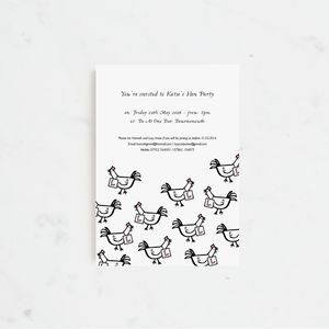 20 Clucking Hens Party Invitations