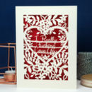 Really F*****G Love You Funny Papercut Valentine's Card