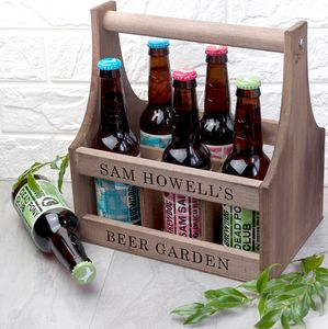 Personalised Wooden Beer Trug - kitchen