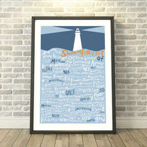 And Now The Shipping Forecast… Print